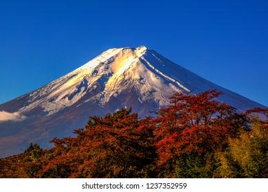 Mt.Fuji on blue sky background