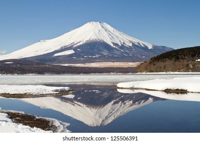 Mt.Fuji with the reflection