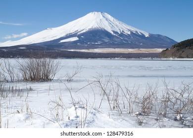 Mt.Fuji in winter season