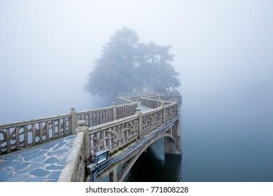 Mt.Lushan National Park (Jiujiang, China) bride in cloud. China world heritage