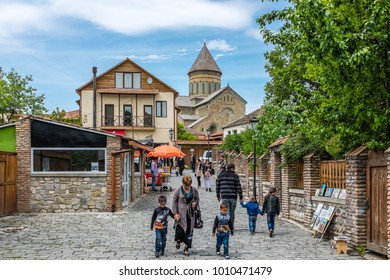 MTSKHETA, GEORGIA, EASTERN EUROPE - MAY 16TH, 2015 : Historical city located at the confluence of the Mtkvari and Aragvi Rivers, and a World Heritage Site.