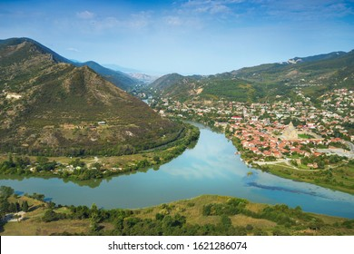 Mtskheta - one of the oldest cities of Georgia and its former capital, located near Tbilisi, at the confluence of the Mtkvari and Aragvi rivers.