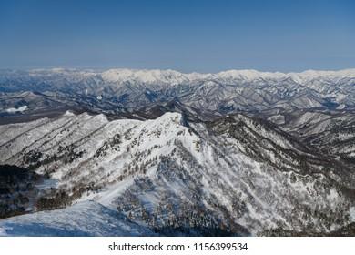 Mt.Tanigawadake and Mt.Asahidake seen from Mt.Kengamine