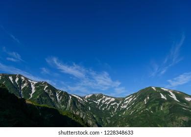 Mt.Yukikuradake and Mt.Hachigadake,Mt.Korengesan in summer