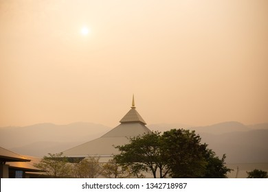 Muang, Chiang Mai, Thailand. March 15, 2019: Air pollution situation in the main city and north of Thailand.
