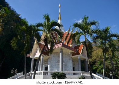 Muang Loei district, Loei province / Thailand - December 17, 2018 : A Vihara or Buddhist Monastery, designed with fine and beautiful arts situated in Wat Tham Pha Poo in Loei province