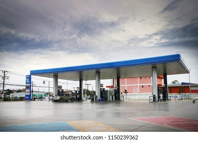 Muang Loei District, Loei, Thailand - August 03, 2018 : PTT Public Company Limited or simply PTT is a Thai state-owned SET-listed oil and gas company.
