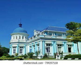 Muar, Johor Malaysia, 16 october 2017: A historical building at johor Malaysia, namely as masjid jamek sultan ibrahim, located at centre town of muar, johor, malaysia.