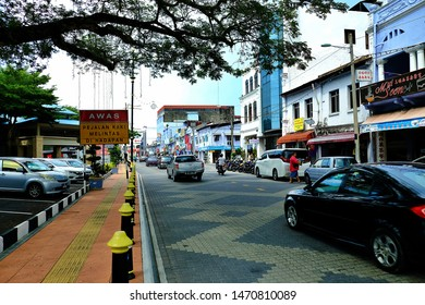 Muar Johor,Malaysia, July 28, 2019:Muar or Bandar Maharani is a historical town and the capital of Muar District, Johor. Popular attractions for its food, coffee and historical pre-war buildings.