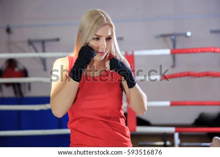 Nude teen female boxing