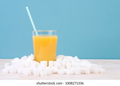 Too much sugar in juice concept