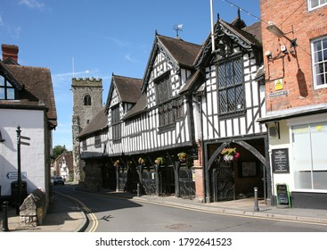Much Wenlock, Shropshire, England, Britain, July 17th 2016. Beautiful timber buildings in Much Wenlock