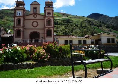 Mucuchies dream village, church Merida Venezuela
