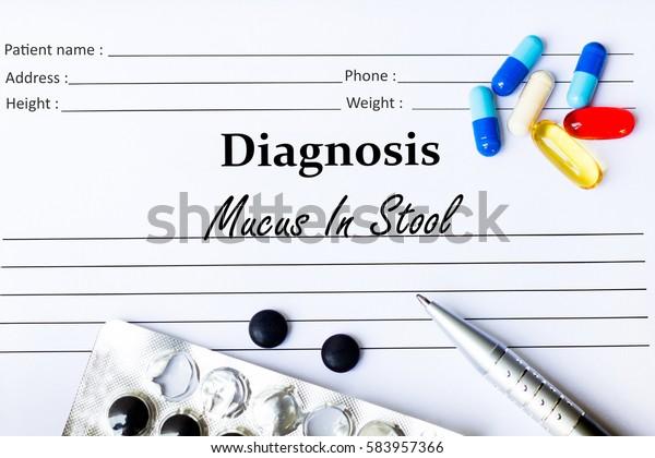 Mucus Stool Diagnosis Written On Piece Stock Photo Edit Now