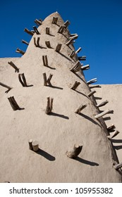 Mud brick mosque in Timbuktu (Mali, Africa).