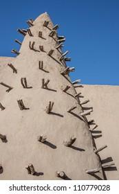 Mud brick mosque in Timbuktu, Mali, Africa.
