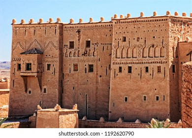 Mud clay buildings, desert, Morocco, North Africa