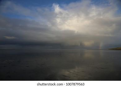 Mud flat at the North sea