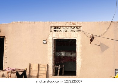 A mud house of the poor farmer in the desert