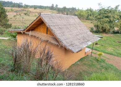 Mud house in Thailand on the mountain