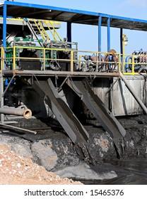 Mud on a drilling rig