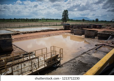 Mud pit in oil and gas industry