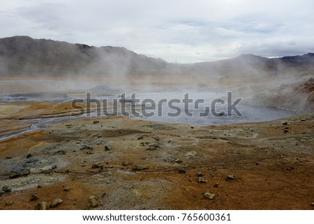 Mud pots at Námafjall Hverir near Lake Myvatn