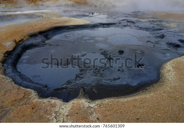 Mud pots at Námafjall Hverir near Lake Myvatn