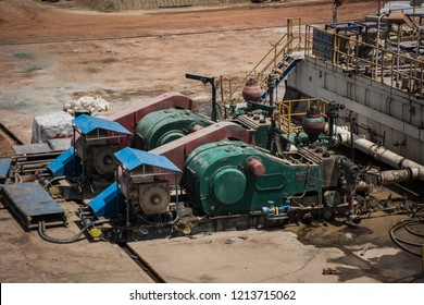 Mud pump in oil and gas rig.