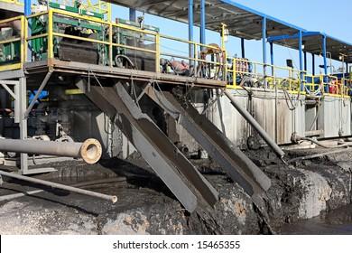 mud shaker and slide