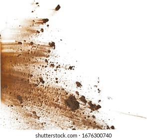 Mud splat pattern on white background.