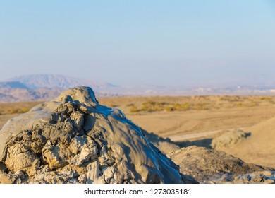 Mud volcano in Gobustan, Azerbaijan