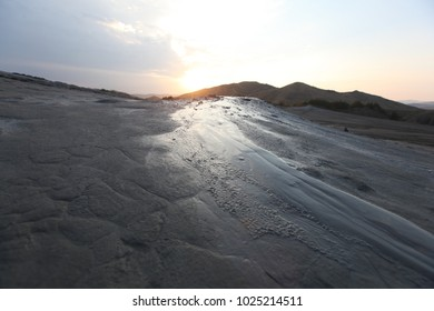 Mud volcano group on a volcanic table-land