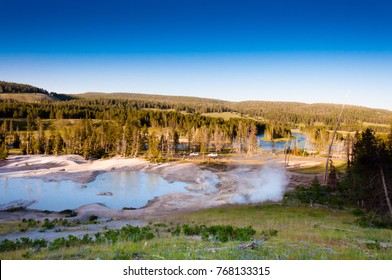 Mud volcano in the Yellowstone national park