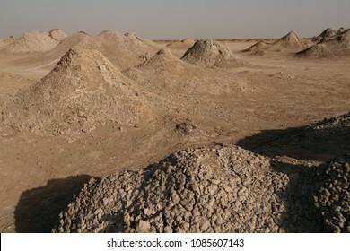 Mud volcanos in Gobustan national park in Azerbaijan.