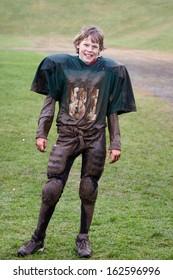 Muddy Football player