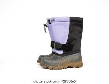 Muddy Kid's Boots on white