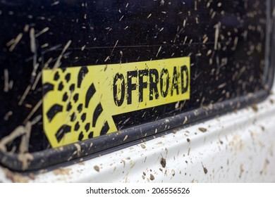 Muddy Off Road Sticker