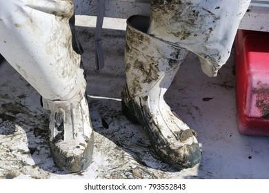 Muddy Work Boots