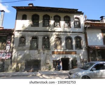 MUDURNU, BOLU, TURKEY - AUGUST 29, 2019: A view of Mudurnu in Bolu, Turkey. Mudurnu is a small town with picturesque Ottoman era houses. Additionally Mudurnu earned cittaslow designation in 2018.