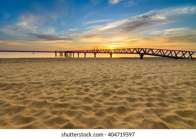Muelle del Vigia, Mazagon , Huelva , Atlantic coast, Andalusia , Spain