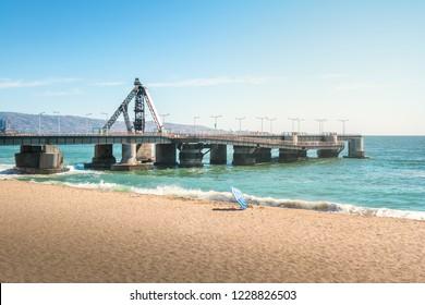 Muelle Vergara Pier and El Sol beach - Vina del Mar, Chile
