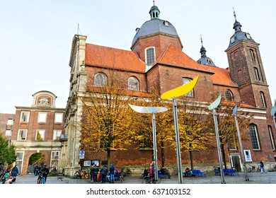 Muenster, Germany, November 4, 2016: Street view at Muenster, Germany  (Münster, Germany)