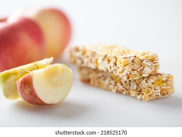 Muesli bar with apple piece