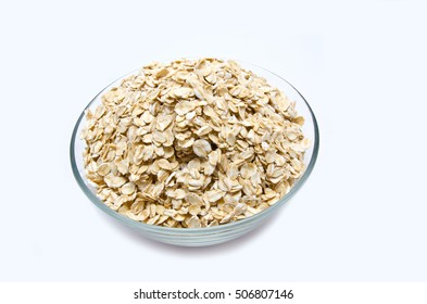 muesli in the bowl isolated on white