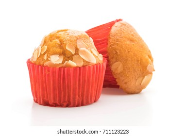 muffin cake isolated on white background