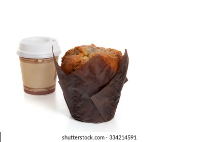 "A muffin and coffee ""to go"""