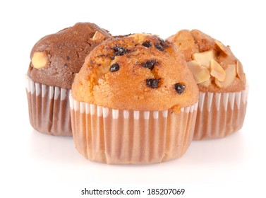 muffin isolated on a white background