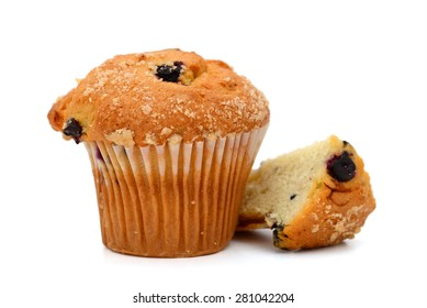 muffin on white background