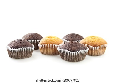 Muffin selection on white
